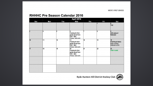 Pre Season 1st Grade April 2016