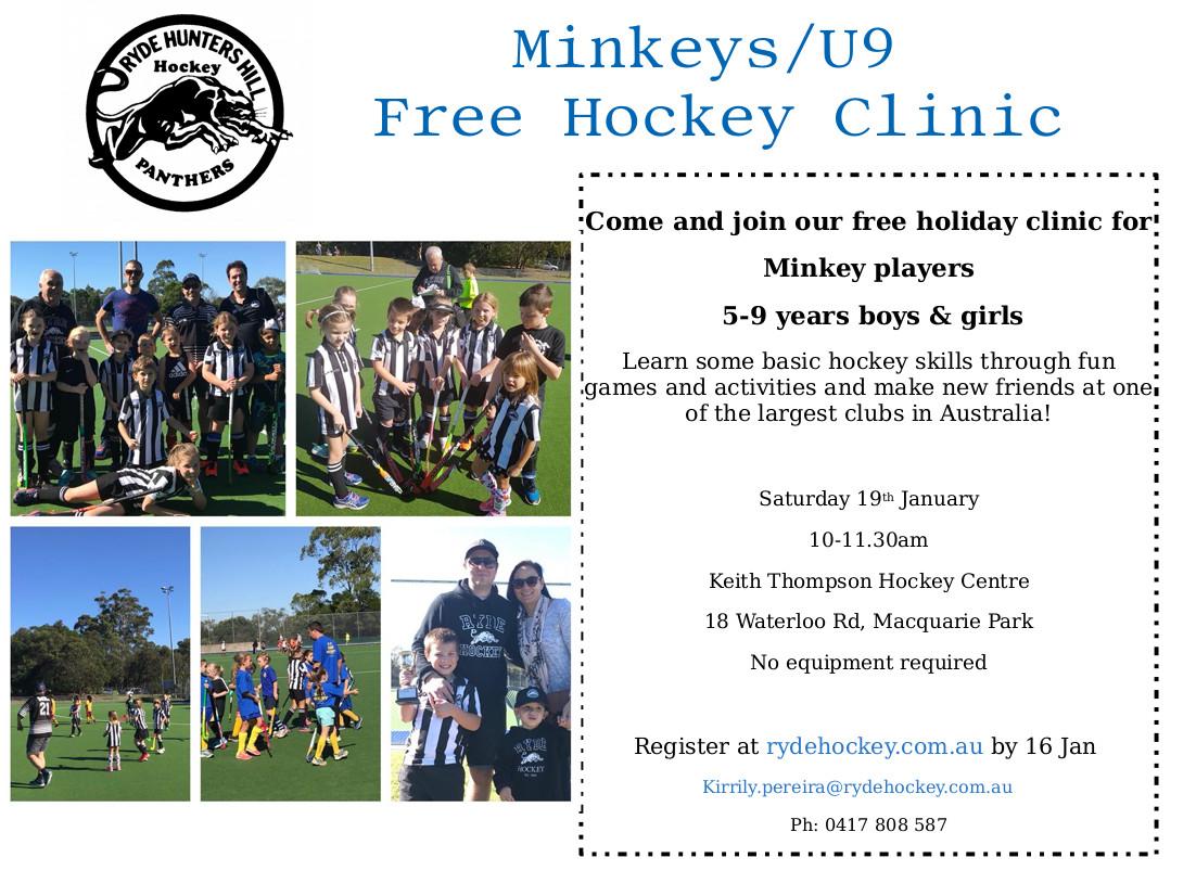 Ryde Hockey Club, Sydney Australia Minkeys U9s - FREE Hockey